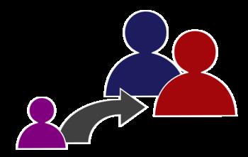English: Pictograph/icon for child adoption. Č...